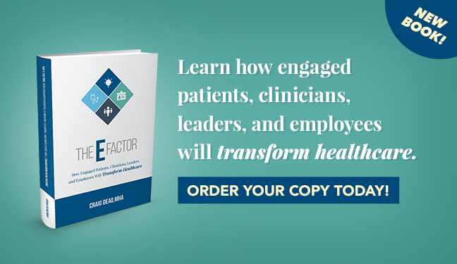 Learn how engaged patients, clinicians, leaders, and employees will transform healthcare. Order your copy today!