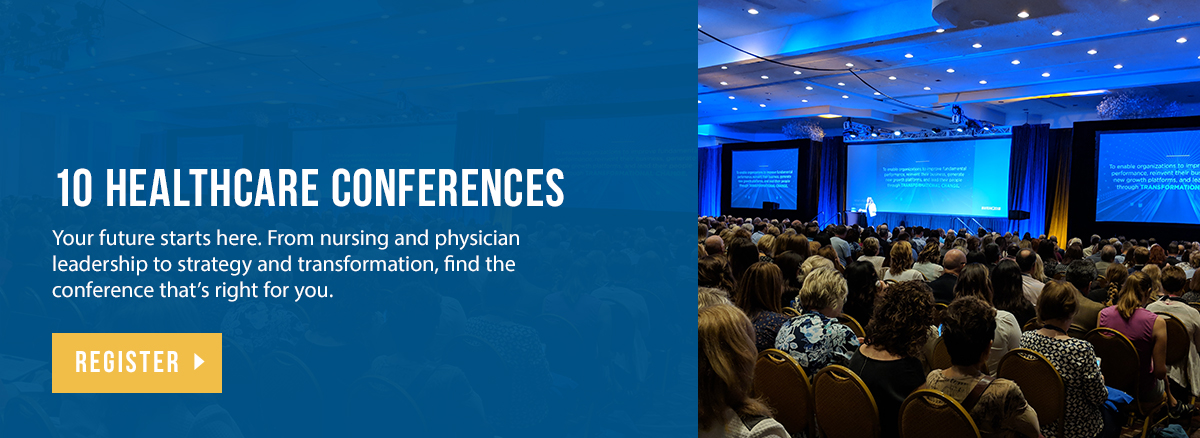 Attend healthcare leadership conferences in Las Vegas October 15-17.