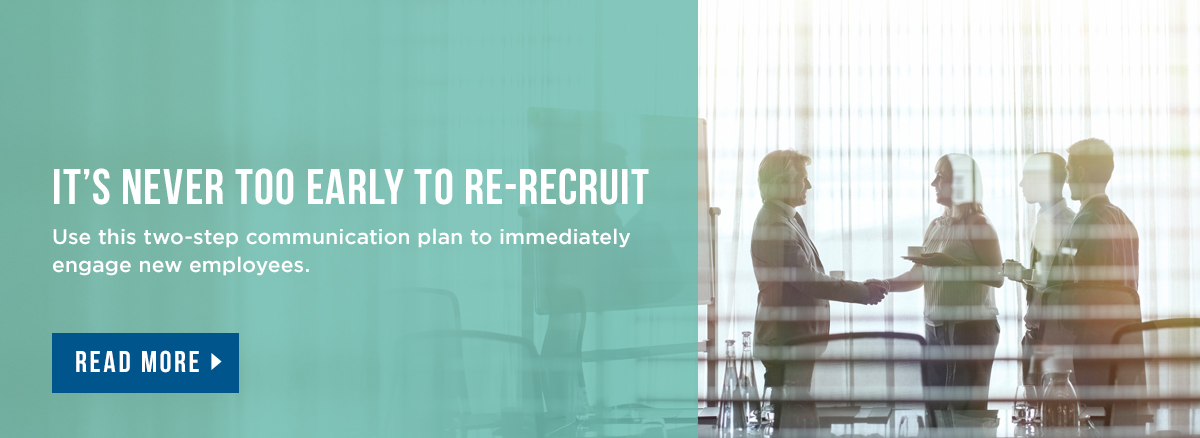Employee re-recruitment two-step plan article
