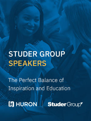 Learn more about Studer Group's expert healthcare speakers.
