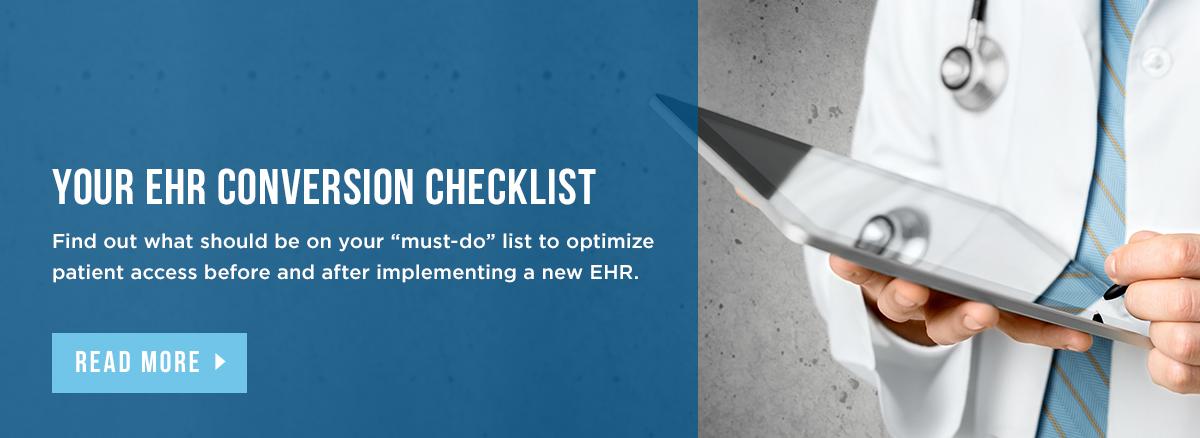 Your EHR Conversion Checklist