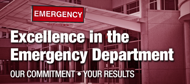 Excellence In The Emergency Department: Our Commitment Your Results