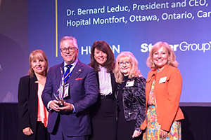 Dr Bernard Leduc, President and Chief Executive Officer of Hôpital Montfort in Ottawa